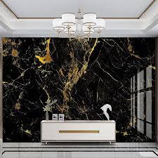 custom foto tapete 3d gold folie schwarz gold marmor wand papier wohnzimmer tv sofa luxus wohnkultur papel de parede sala 3 d