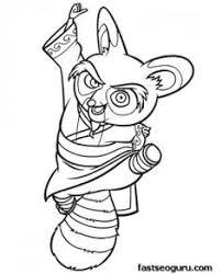 Printable Kung Fu Panda Master Shifu Coloring Pages
