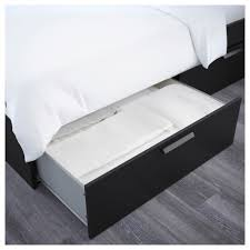 BRIMNES Bed frame with storage Queen Luröy IKEA