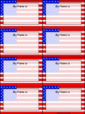 USA Name Tags To Print EnchantedLearning