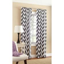 Purple Sheer Curtains Walmart by Mainstays Chevron Polyester Cotton Curtain With Bonus Panel