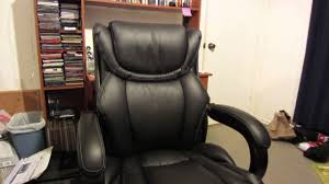 Serta Executive Chair Manual by Lazboy Black Executive Office Chair Review Youtube