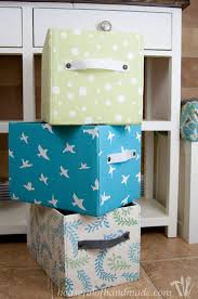Easy DIY Fabric Storage Boxes a Houseful of Handmade