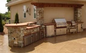 chimney gray mats outdoor kitchen design light brown island
