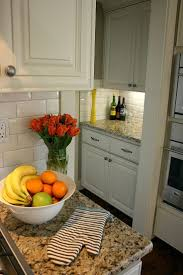 kitchens with granite countertops white cabinets how to end glass