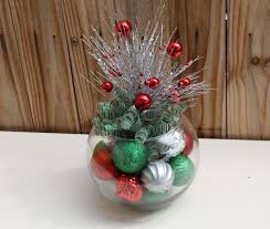 Donner And Blitzen Christmas Tree Ornaments by Christmas Centerpiece Red Green And Silver Holiday Decor