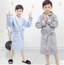 Spring Summer Children Cotton Bathrobe Girls Boys Swimming Robe Kids Bath Pajamas Night