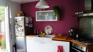 cuisine mur framboise cuisine couleur framboise cuisine chic et rustique en bois
