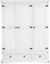 loft24 kleiderschrank kiefer weiß landhaus 3 türig