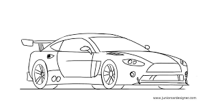 How to draw a race car
