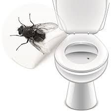 4 x wc aufkleber fliege toilettensticker bad ausstattung