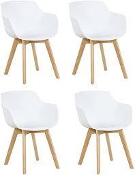 4x retro designerstuhl 4er esszimmerstühle mit armlehne