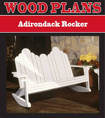 Adirondack Rocking Chair Woodworking Plans by Outdoor Furniture Plans