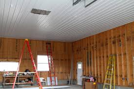 Hanging Drywall On Ceiling Trusses by Corrugated Steel For Garage Ceiling The Garage Journal Board