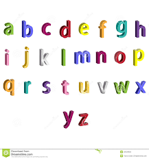 Small Colorful Alphabet 3D Letters Stock Illustration Illustration