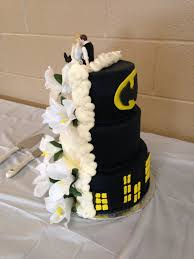 Batman Traditional Wedding Cake in Buttercream
