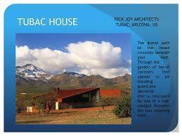 100 Rick Joy Tubac House PPT Residence Analysis PowerPoint Presentation Free