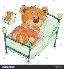 Vector Illustration Brown Teddy Bear Misses Stock Vector