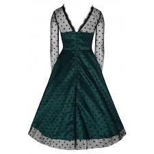 grace bottle green swing dress vintage inspired fashion lindy