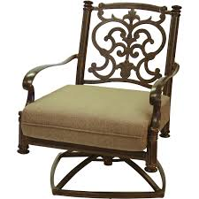 Darlee Santa Barbara Cast Aluminum Patio Swivel Rocker Club Chair - Antique  Bronze