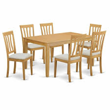 100 6 Oak Dining Table With Chairs CAAN7OAK 7 PC Set Small Kitchen And