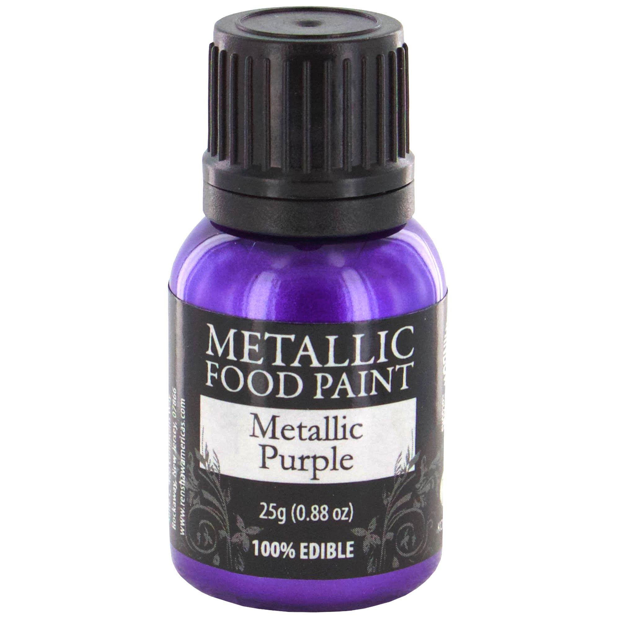 Rainbow Dust Metallic Food Paint - Metallic Purple