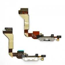 nappe dock connecteur de charge usb et micro pour iphone 4 blanc