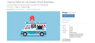 100 Budget Truck Coupon Free Udemy Course On How To Start An Ice Cream