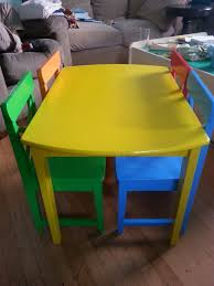 Color Transformation – Toddler Table And Chairs | A Little ... Top Toddl Taguig Pinas Wood Ding Tesco Fniture Target Charming Childs Table And Chairs Asda Plans Plastic Diy Wooden Best Round Childrens Toddler Folding Lawn Home Ideas Inspiring Desk Chair Set Argos Kid Piece Costco Activity Smyths Tikes Unfinish 50 Kids And Table Chairs Kmart Solid F Africa Dectable Sets Excellent For Toddlers South