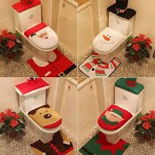 weihnachtsmann badezimmer set toilettenmatte toilettenbezug
