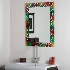 Mosaic Bathroom Mirror Diy by Mosaic Bathroom Mirrors Kavitharia Com