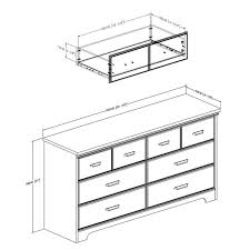 South Shore 6 Drawer Dresser White by South Shore Versa 6 Drawer Wood Double Dresser In Weathered Oak