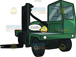 100 Powered Industrial Truck A Side Loader Forklift Clipart Cartoons By VectorToons