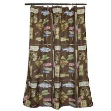 Hunting Camo Bathroom Decor by Amazon Com Bacova Guild Born To Fish Shower Curtain Home U0026 Kitchen