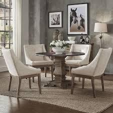 Janelle Round Rustic Zinc Dining Set