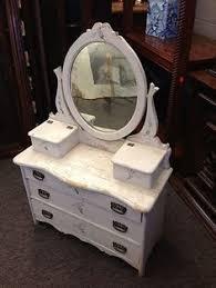 antique salesman sample dresser mirror childs doll toy