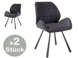 2er set alica stuhl dunkelgrau günstig möbel küchen büromöbel kaufen froschkönig24
