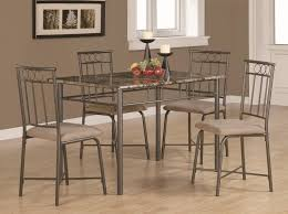 Elegant 5 Piece Dining Room Sets by Great Dining Room Decoration With Five Pieces Metal Dining Table
