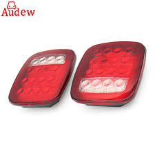 2Pcs 16 LED Car Tail Light Waterproof Truck Trailer Boat Stop Turn ... 8pc White Led Truck Bedrear Work Box Lighting Kit Trunk Light For Marker Clearance Lights Trucklite 2pcs 6000k P13w 33smd Bulbs For Auto Car Fog Lamp Arb Style Blue Rocker Switch Many Sayings Hid Pros Automotive Bulb Connectors Sockets Wiring Harnses 15 Series Incandescent 1 Rectangular Clear Utility 50 Smart 7 Solid Pin Grey Plastic Surface Mount Nose Universal Teardrop Smoke Cab Roof Super 44 Red Round 6 Diode Stopturntail Black Grommet