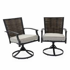 Set Of 2 Swivel Dining Chairs Outdoor Patio Deck Seat Furniture Chair Steel  Fram Outdoor Chairs Set Of 2 Black Cast Alinum Patio Ding Swivel Arm Chair New Elisabeth Cast Alinum Outdoor Patio 9pc Set 8ding Details About Oakland Living Victoria Aged Marumi In 2019 Armchair Cologne Set Gold Palm Tree Outdoor Chairs Theradmmycom Allinum Fniture A Guide Alinium Rst Brands Astoria Club With Lawn Garden Stools Bar Modway