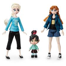 Vanellope With Anna And Elsa Mini Doll Set Ralph Breaks The