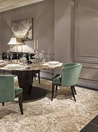 Beautiful Autumn Colors Gold Green And Black Royal Table Emerald Chairs Are The Dining Room DecoratingRoom