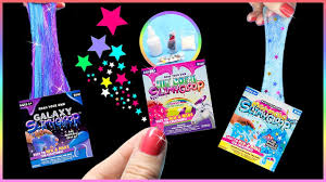 DIY Miniature 5 Slime Kits Unicorn Mermaid Galaxy DIYs