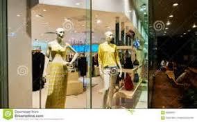 Fashion Clothing Store Clothes Shop Window Stock Photo