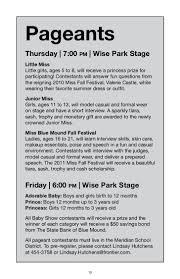 Milton Pumpkin Festival Pageant by 2011 Blue Mound Fall Festival Booklet