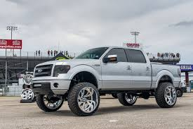 Sleek Ford F150 With A Lift And Chrome Off-road Wheels By Fuel ...