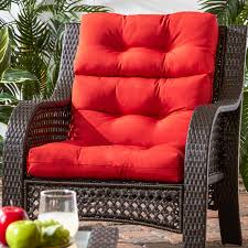 Porch & Den Rosewood Graham 44x22-inch 3-section Outdoor Red High Back  Chair Cushion - Walmart.com Greendale Home Fashions Solid Outdoor High Back Chair Cushion Set Of 2 Walmartcom Fniture Cushions Ideas For Your Jordan Manufacturing Outdura 22 In Ding Roma Stripe 20 Chairs At Walmart Ample Support Better Homes Gardens Harbor City Patio Lounge With Sahara All Weather Wicker Rocking With Regard The 8 Best Seat 2019 Classic Porch Black Sonoma Serta Big Tall Commercial Office Memory Foam Multiple Color Options
