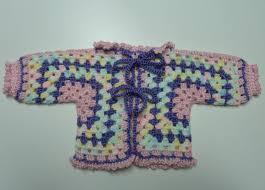 cary2crafty crochet hexagon granny baby jacket