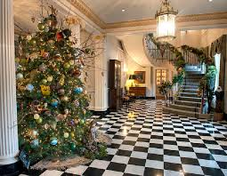 The Tennessee Governors Mansion Decorated For Christmas Holidays