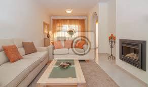 fototapete luxuriöses lounge wohn esszimmer mit kamin